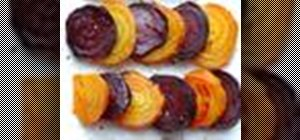 Make roasted beets at home with olive oil, salt and pepper