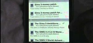 Get a free money cheat for your Sims 3 game on the iPhone