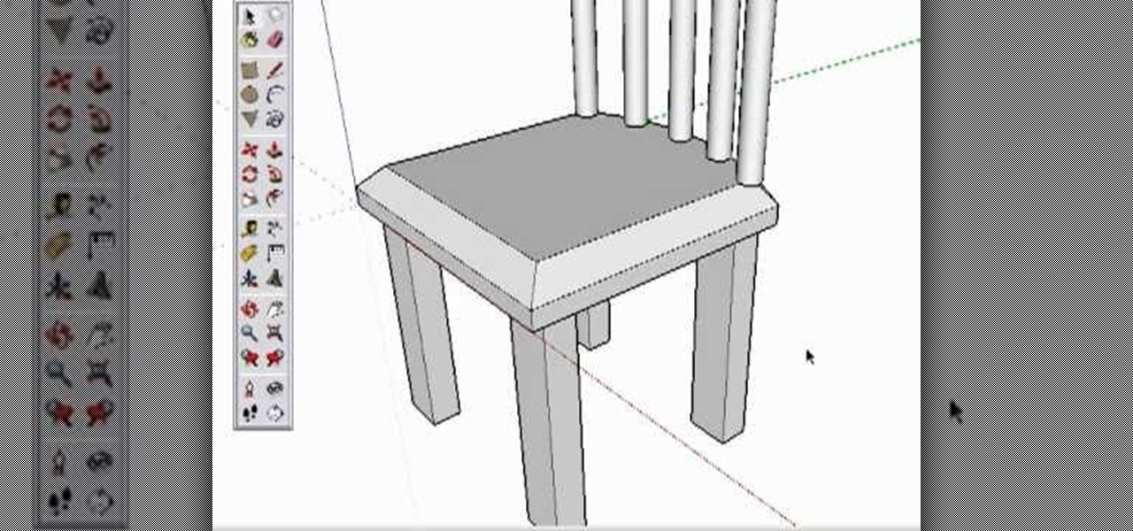 How To Create A Chair In Google Sketchup Software Tips