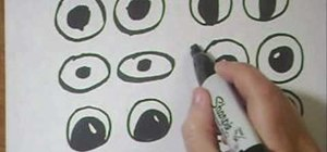 Draw cartoon googly eyes on crafts