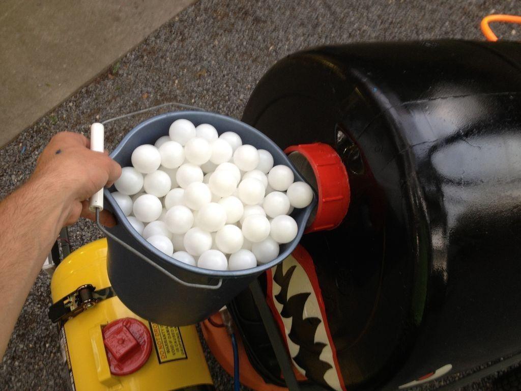 "This DIY Pneumatic ""Mauler"" Fires 300 Ping Pong Balls Per Minute"
