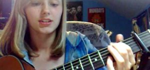"Play Cascada's ""Everytime We Touch"" on acoustic guitar"