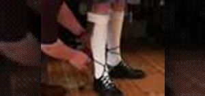 Tie Ghillie Brogues for Bagpipe fashion