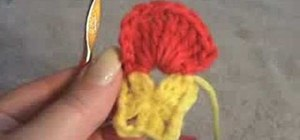 Crochet a simple pansy flower