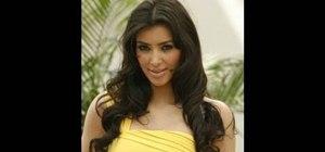 Get Kim Kardashian's loose bombshell curls