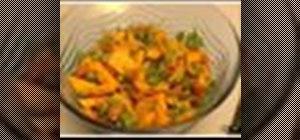 Makealoo matar sabji  (peas and potatoes)