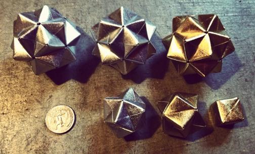Silver & Gold: DIY Modular Origami Christmas Ornaments