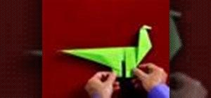 Origami a dinosaur