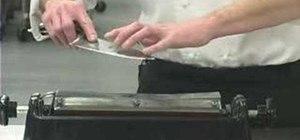 Sharpen kitchen knives