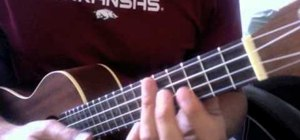 "Play ""Turn My Swag on"" by Souljah Boy on the ukulele"