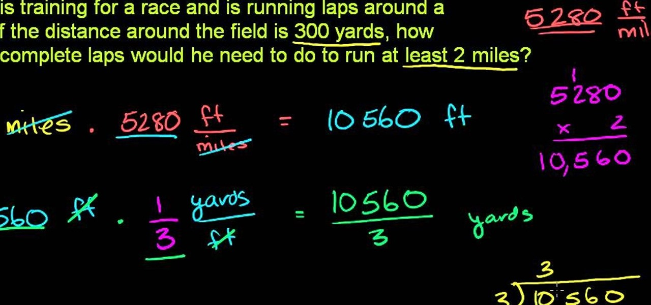How to Solve a word problem that asks you to convert yards into ...