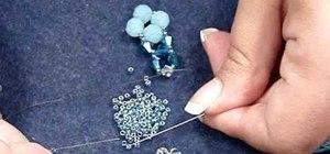 Make right angle weave earrings