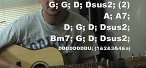 """Play """"The Scientist"""" by Coldplay on acoustic guitar"""
