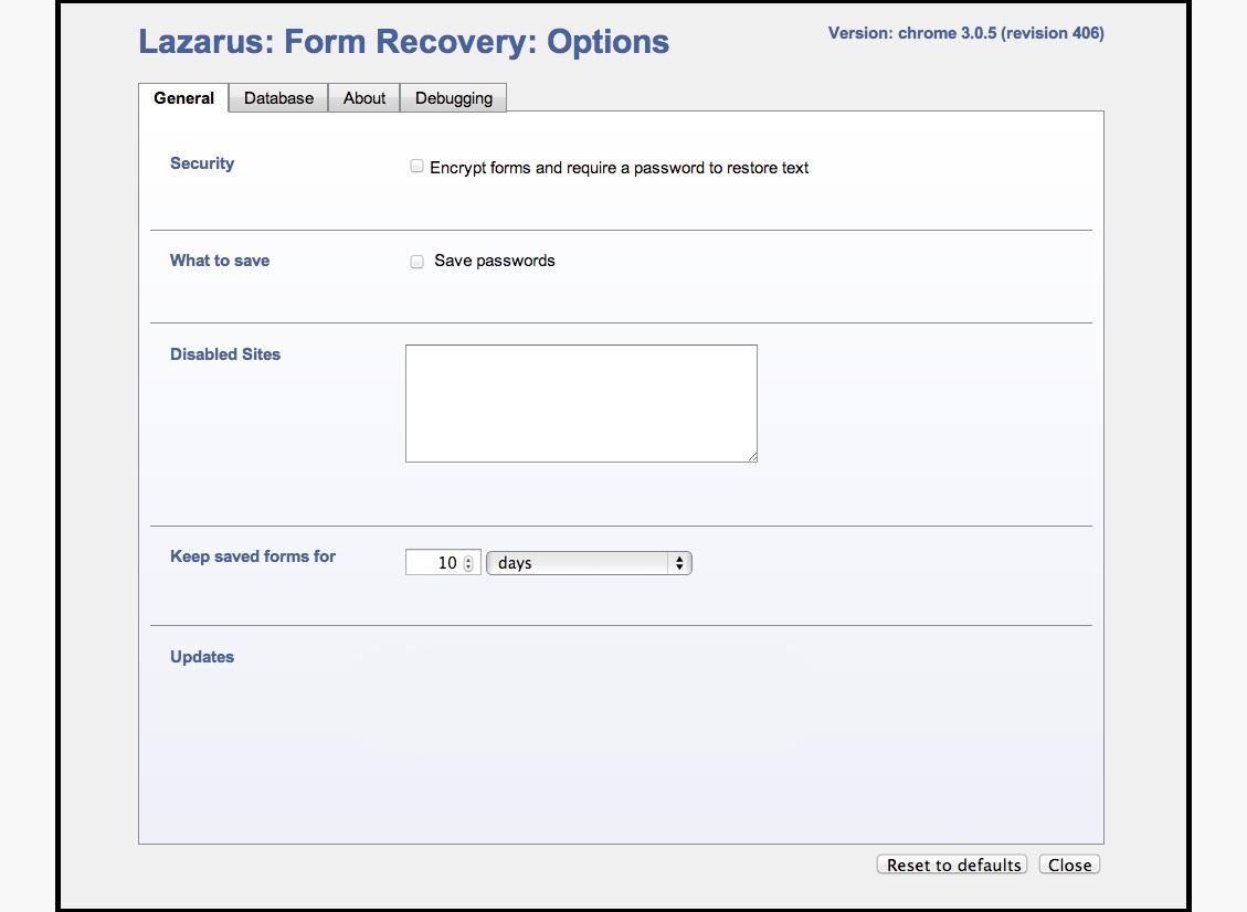 Lazarus Add On Chrome