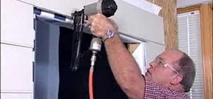 Install an exterior entry door