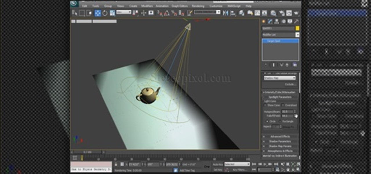 Use Spotlights in Autodesk 3ds Max 2014