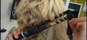Use a double barrel curling iron to give yourself S waves