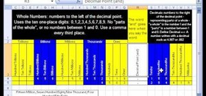 Format whole & decimal numbers in Microsoft Excel