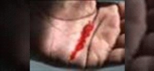 Controlbleeding from a hand cut