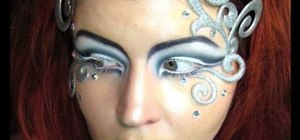Create a sparkly silver Ice Queen makeup look