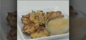 Make and cook baked potato pancakes