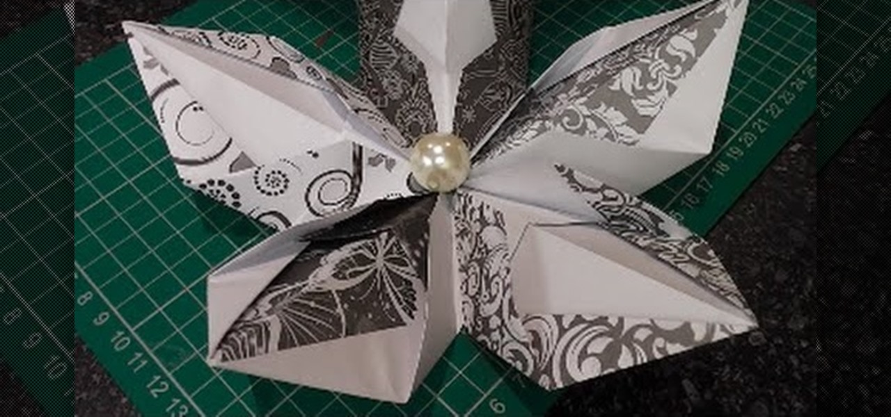 Make the 5 Petal Origami Flower