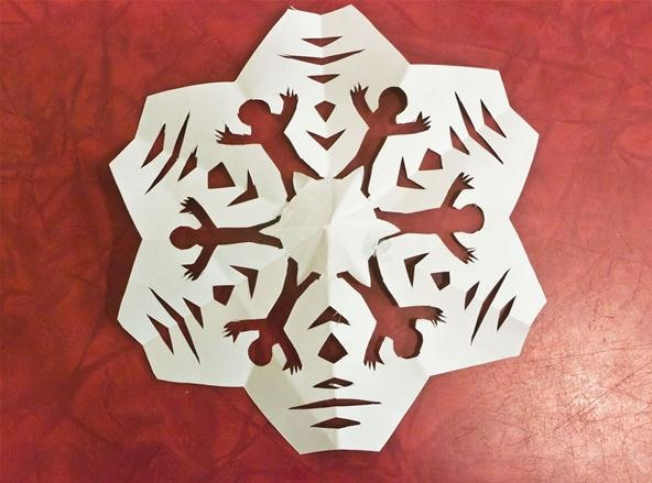 How to Make 6-Sided Kirigami Snowflakes