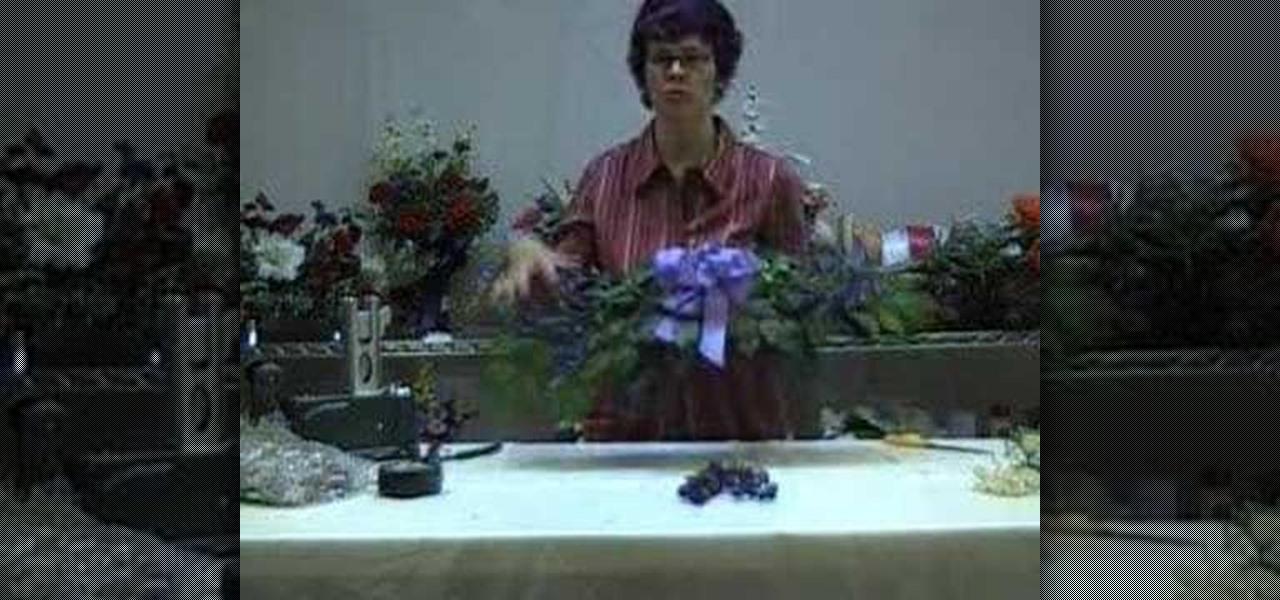 How to make a silk flower swag flower arrangement wonderhowto mightylinksfo