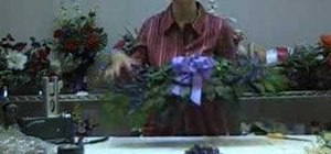 How to make a silk flower swag flower arrangement wonderhowto how to make a silk flower swag mightylinksfo