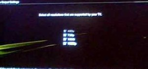 Choose between 720p or 1080i resolution for your PS3
