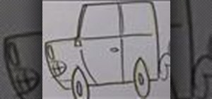 Draw a cartoon car