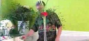 Design a floor flower arrangement for a wedding