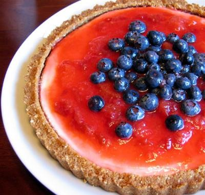 RECIPE: Red, White, and Blueberry Cheesecake Tart