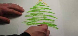 Draw a unique Christmas tree with scribbles