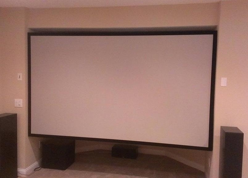 Save Money on Your Home Theater with This Pro-Looking DIY Projector Screen