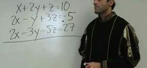 Solve 3 equations with 3 variables