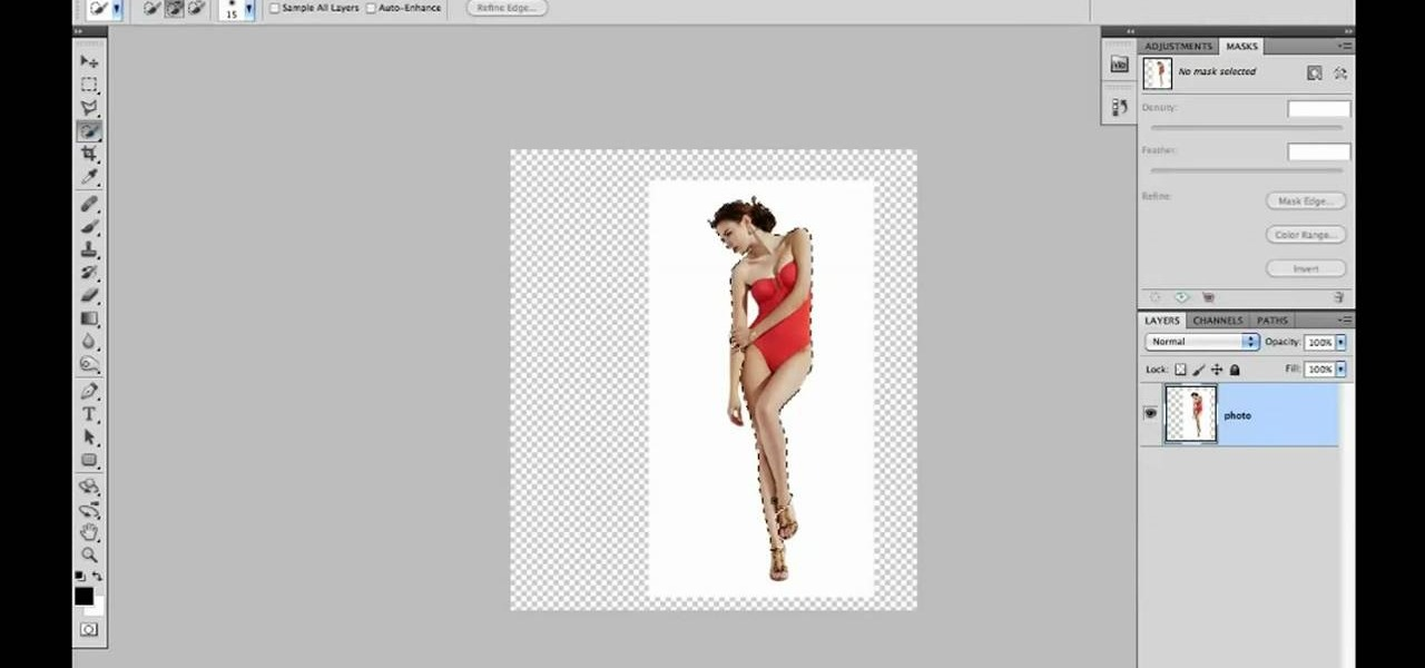 photoshop how to make lines through object
