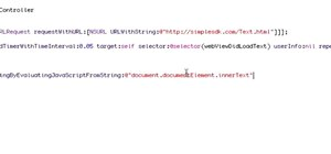 Extract text from UIWebView to see if a user has an account