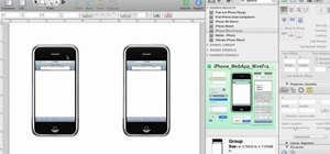 Create a wireframe or sitemap for a mobile device in OmniGraffle 5