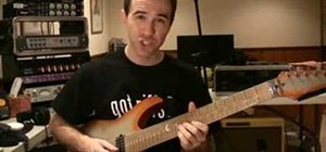 Play a G minor pentatonic riff on electric guitar