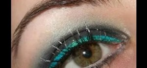 Create Dancing On Ice sparkling smokey eye makeup look