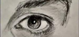 Master drawing a human eye in two minutes