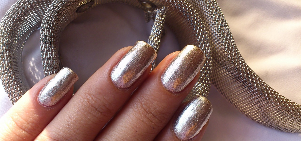 Silver Nail Polish with Soft Metal Texture!