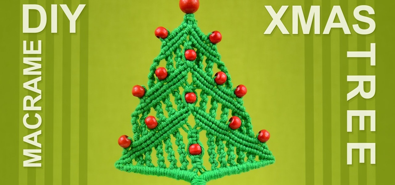 Make a Macrame Christmas Tree Ornament