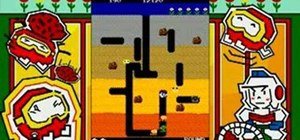 Get the 4 enemies achievement in Dig Dug
