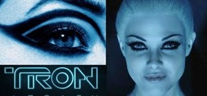 "Create a futuristic makeup look inspired by the sirens in ""Tron: Legacy"""