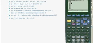 Use a TI89 calculator to graph linear equations