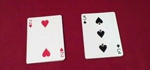 Perform a math addition card trick great for kids