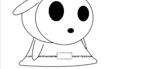 Do a simple drawing of Shy Guy from Mario Brothers