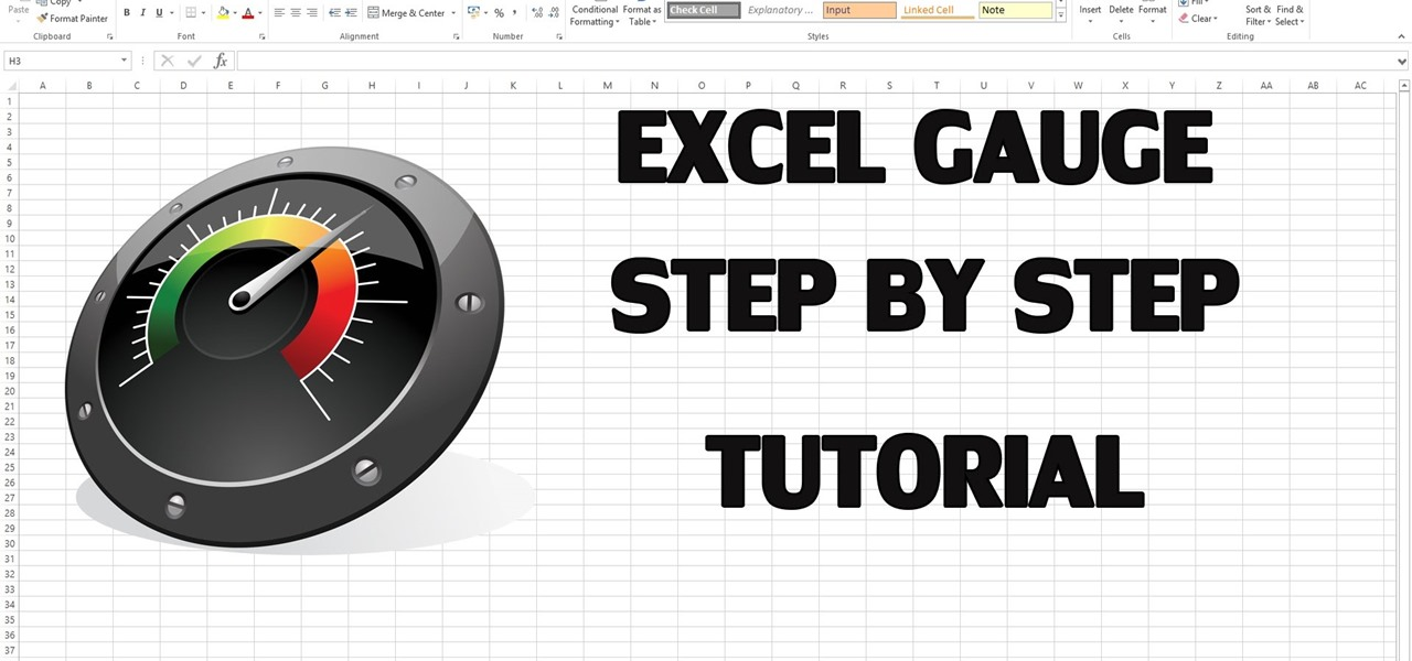 How To Create Excel Kpi Dashboard With Gauge Control Microsoft
